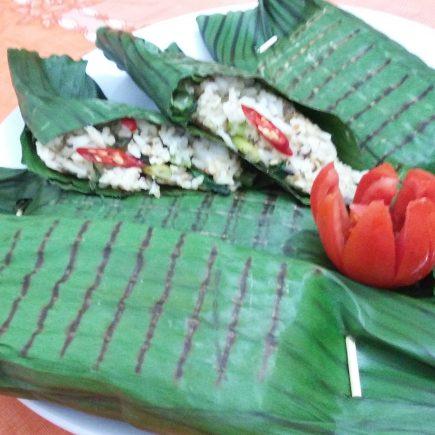 Nasi Bakar Ikan Tuna Serai Kemangi